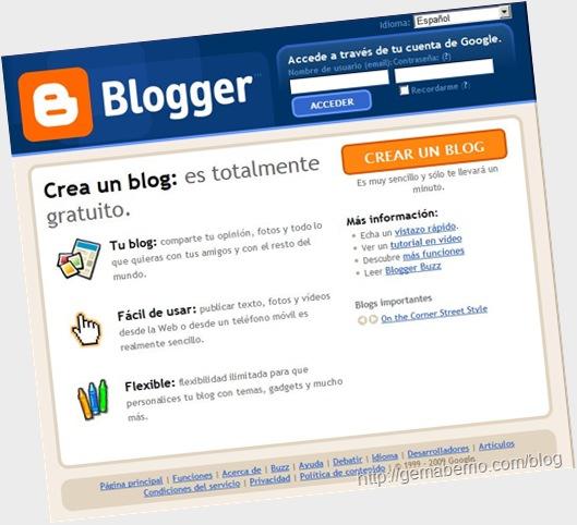 Nueva interfaz para Google Blogger