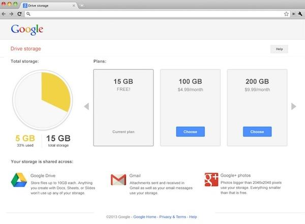 Google unifica el almacenamiento de Gmail, Drive y Google +