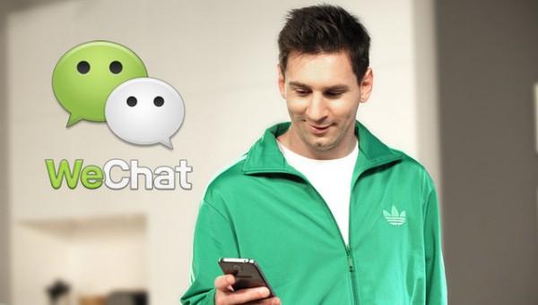 WeChat contra Whatsapp lanza una campaña con Lionel Messi