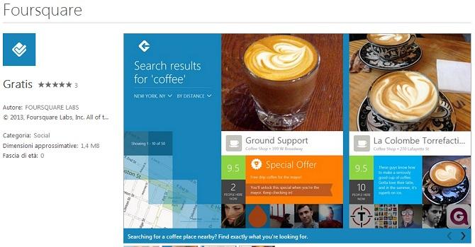 Foursquare llega a Windows 8 y Windows RT