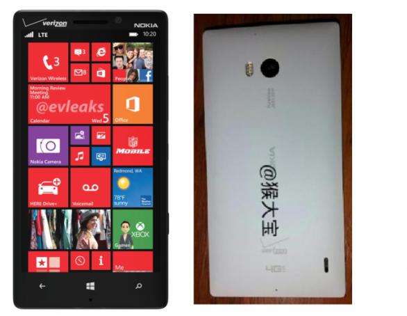 Nokia Lumia 929 se muestra en una representación