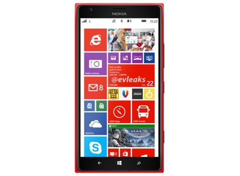Nokia Lumia 1520, el phablet finlandés se muestra en rojo