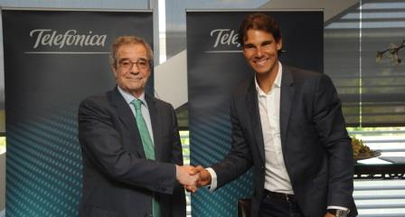 Telefonica ficha a Rafael Nadal como embajador mundial