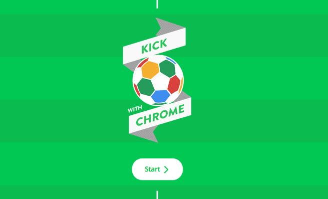 Kick With Chrome es el nuevo experimento del navegador de Google