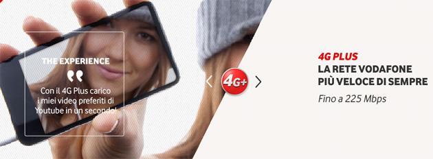 Vodafone lanza su red 4G+ activas en 80 ciudades italianas