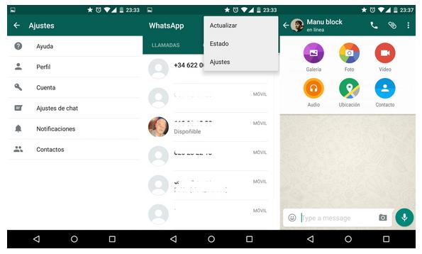 Material Design, la actualización de WahtsApp para Android