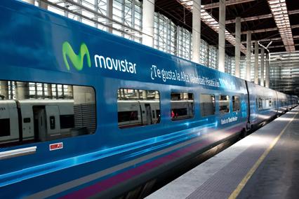 Movistar anuncia la velocidad de su fibra óptica en el AVE