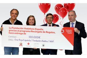 'Recárgate de Regalos' (Vodafone) reparte 120.000 euros en causas solidarias