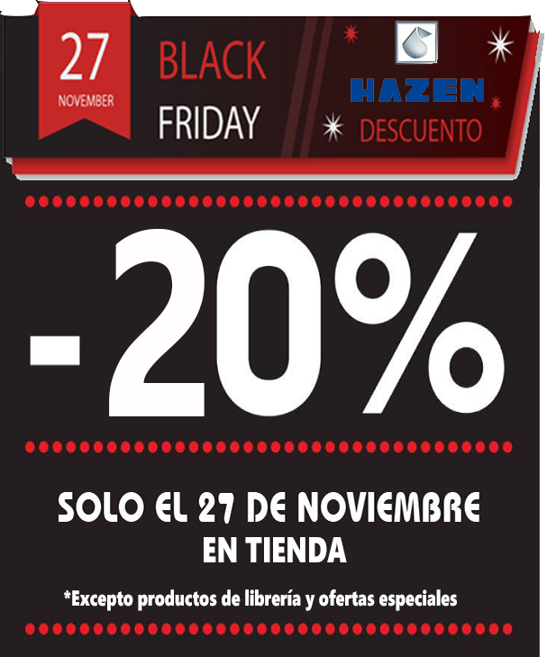 20% de descuento en Hazen durante el Black Friday