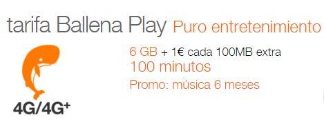 Orange lanza 'Ballena Play', nueva tarifa móvil por 25,95 euros al mes