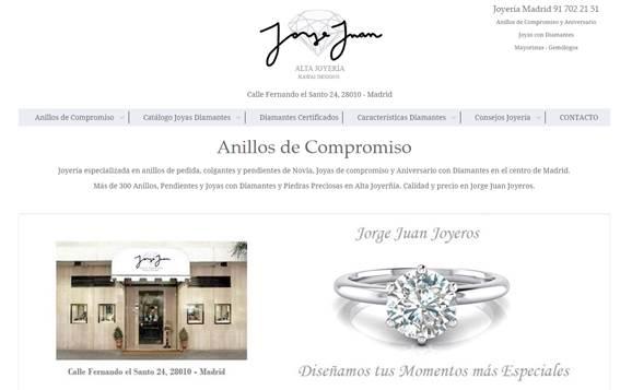 Jorge Juan Joyeros, especialista en anillos de compromiso, estrena nueva web