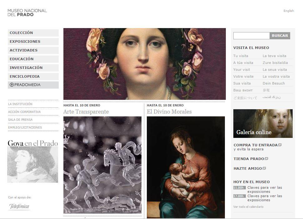 Telefónica colabora en la nueva web de El Museo del Prado
