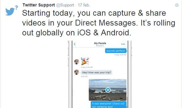 Twitter añade botón de búsqueda de GIF y soporte de vídeo en MD