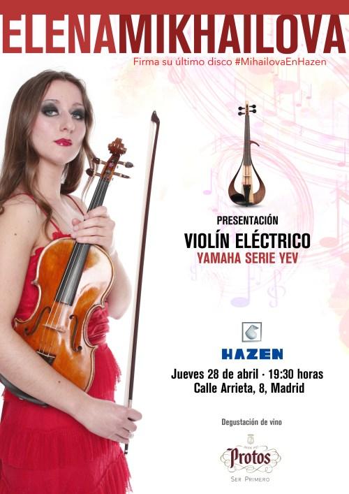 La tienda de instrumentos musicales Hazen presenta el nuevo violín eléctrico Yamaha