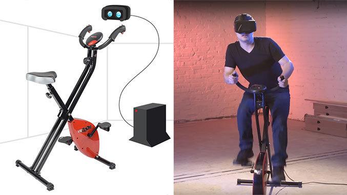Bicicletas estáticas y realidad virtual
