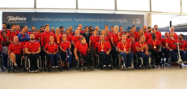 Telefónica recibe y felicita al equipo Paralímpico Español