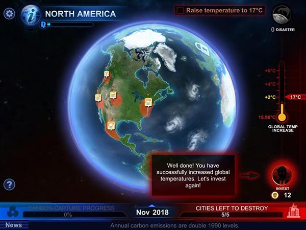 Carbon Warfare, el juego para móviles que alerta sobre el calentamiento global