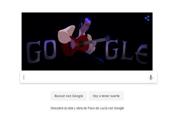 Google dedica el último 'doodle' de 2016 a Paco de Lucía