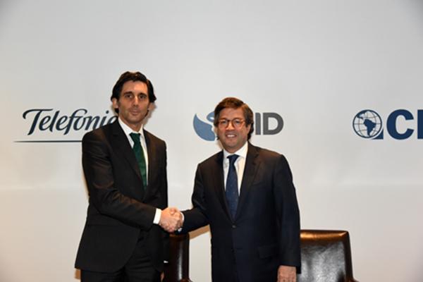 Telefónica, BID y CII renuevan el acuerdo para la transformación digital en Latinoamérica