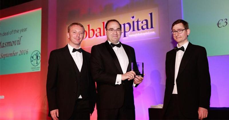 MásMóvil galardonada con el premio 'Global Capital' por su captación de financiación