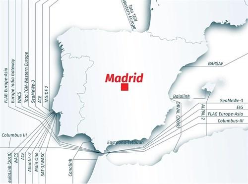 Madrid será uno de los principales puntos de intercambio de internet