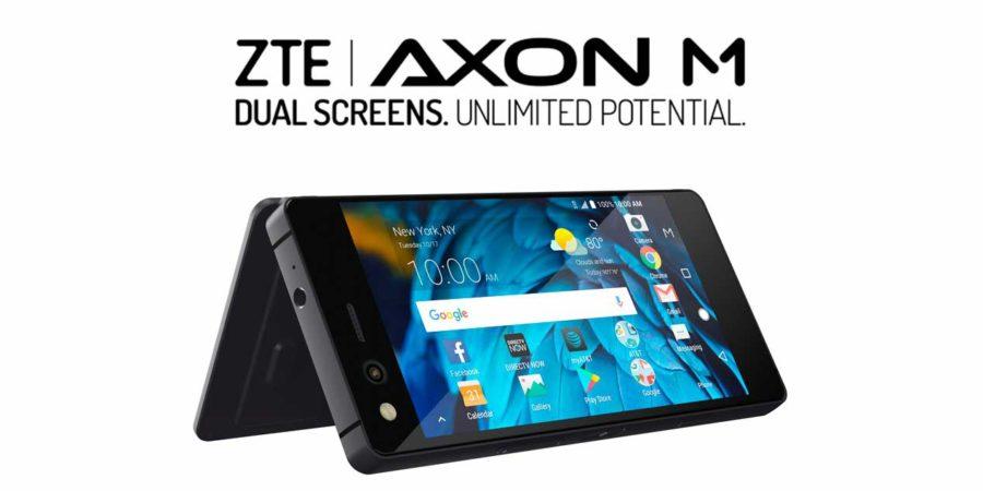 ZTE presenta Axon M un terminal de doble pantalla plegable