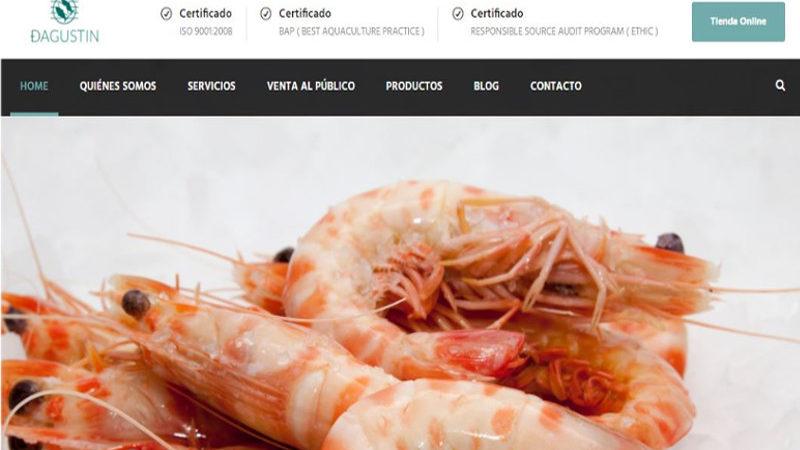 La distribuidora de pescados y mariscos Dagustín estrena nueva web