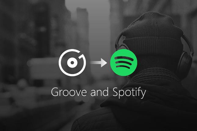 Microsoft anuncia el fin de Groove Music integrado con Spotify el 31 de diciembre