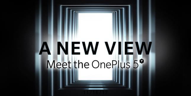OnePlus 5T será presentado el 16 de noviembre en Nueva York