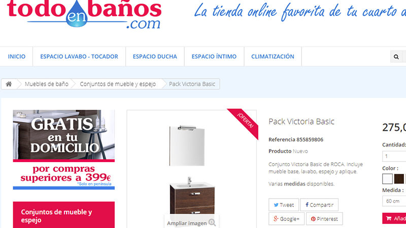 Aumenta el número de usuarios que compra muebles de baño online