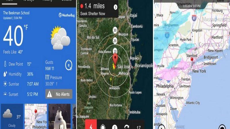 Algunas apps para revisar el estado del clima