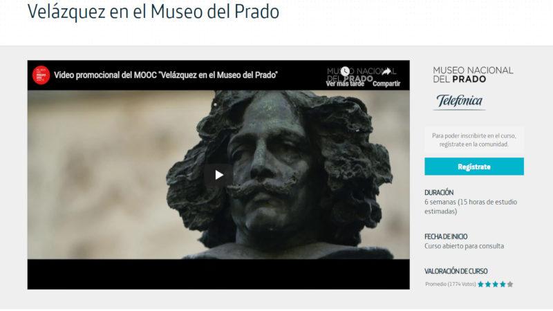 Telefónica colabora con el Museo del Prado en un MOOC sobre Velázquez