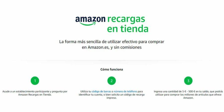 Amazon lanza Recargas en Tienda y abre las puertas al efectivo