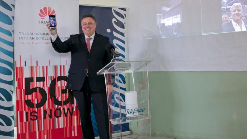 Telefónica y Huawei realizan la primera videollamada internacional con 5G