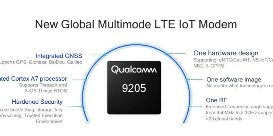 Qualcomm lanza el módem 9205 para dispositivos IoT