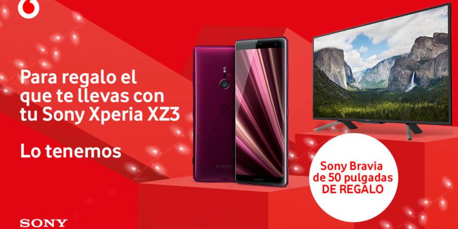 Vodafone regala un Sony Bravia de 50 pulgadas si compramos un Xperia XZ3