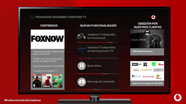 Los clientes 'total' de Vodafone TV ya pueden disfrutar de contenidos FOXNOW