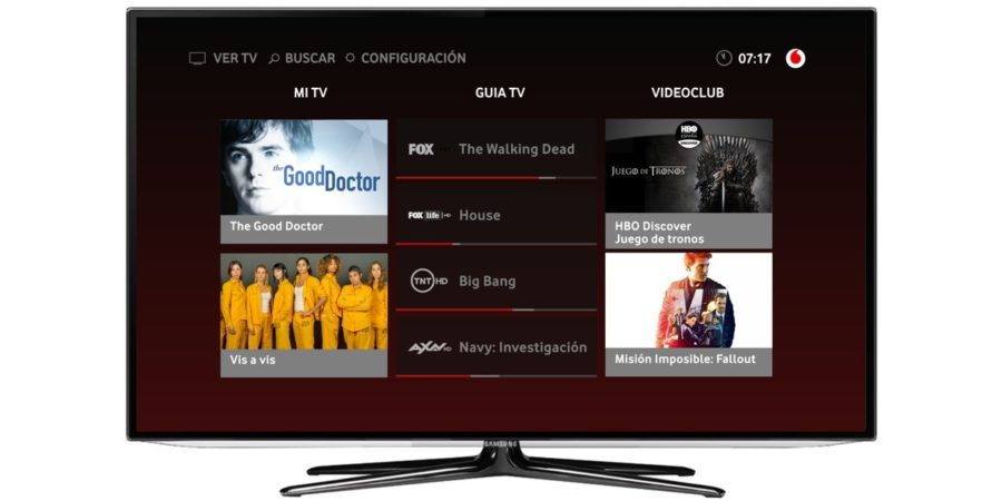 La app de Vodafone TV llega a las Smart TV de Samsung