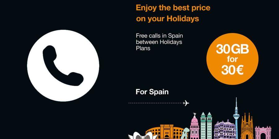 Orange lanza la tarifa prepago Holidays Spain para turistas que visiten España