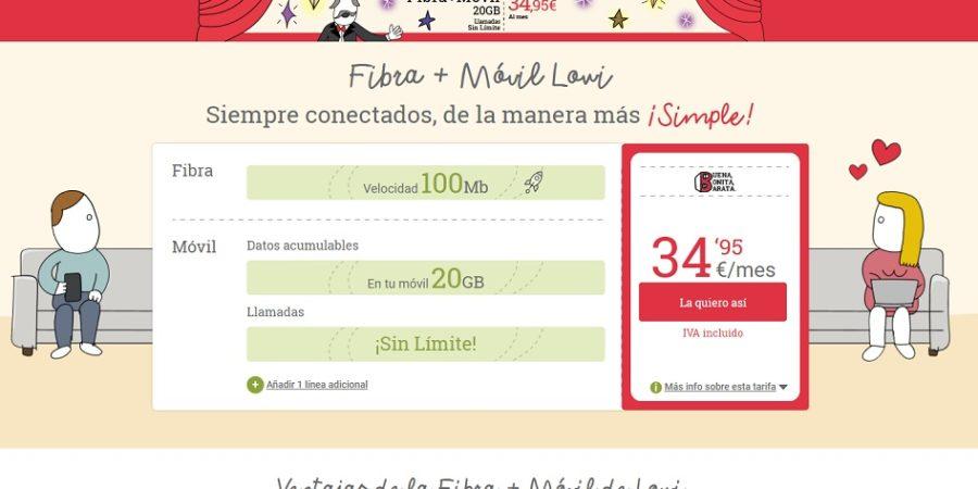 Lowi ofrece 10 GB más gratis con su oferta de fibra y móvil