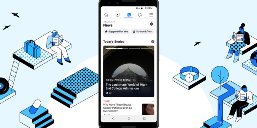 Facebook publica su pestaña de noticias personalizable Facebook News en fase de pruebas