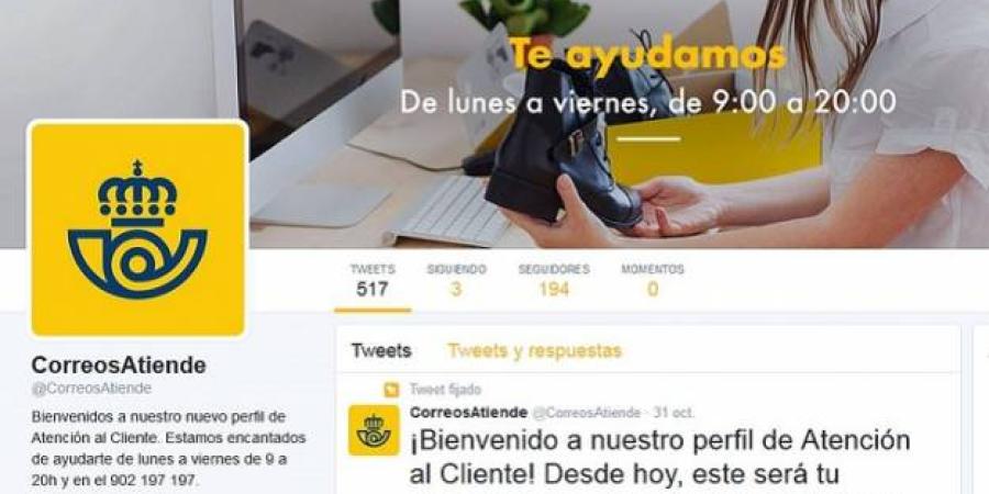 Correos restaura su cuenta de atención al cliente de Twitter tras el 'hackeo'