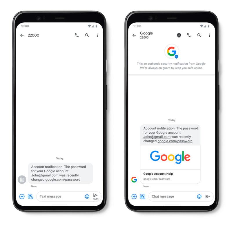 Google presenta oficialmente sus SMS verificados