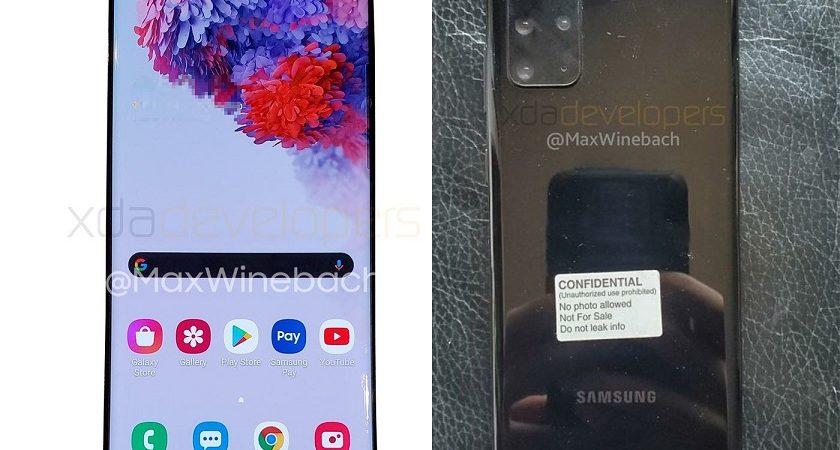 Se filtran las primeras imágenes del Samsung Galaxy S20+ 5G