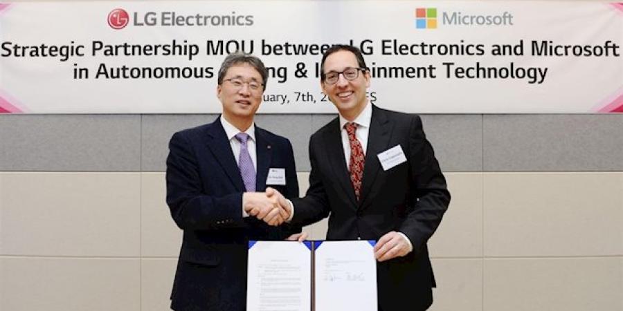LG y Microsoft crean nuevos sistemas de entretenimiento en los automóviles