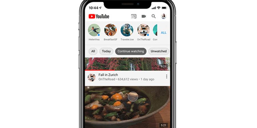 YouTube incorpora los temas en iOS para organizar los vídeos de las suscripciones