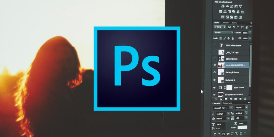 Photoshop añade el relleno según el contenido y el desenfoque de lente