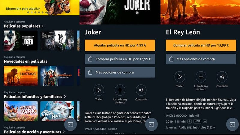 Amazon Prime Video ya permite alquilar y comprar películas