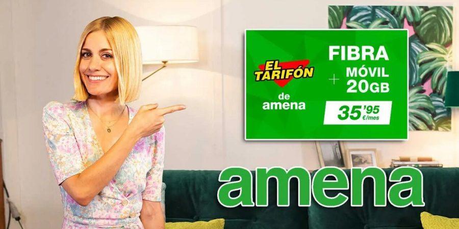 Amena rebaja su oferta de fibra y móvil y le suma más GB