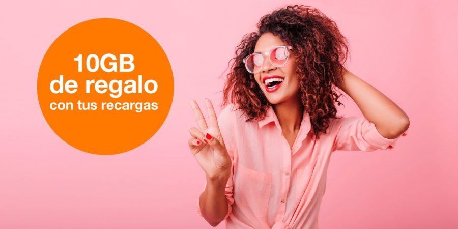 Orange regala 10 GB gratis en tarifas prepago este verano